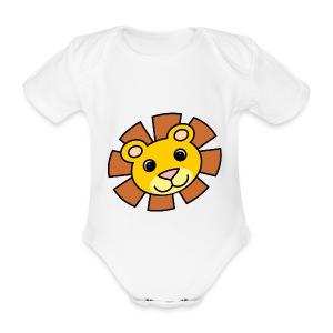 funimals_lejon_f--rg_-2- - Ekologisk kortärmad babybody