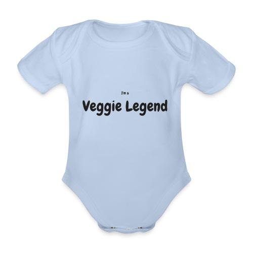 I'm a Veggie Legend - Organic Short-sleeved Baby Bodysuit