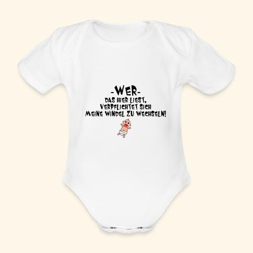 Windel - Baby Bio-Kurzarm-Body