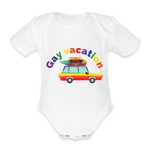 Gay Vacation | LGBT | Pride - Baby Bio-Kurzarm-Body