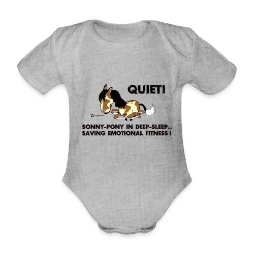 QUIET Sonny Pony in deep sleep - Baby Bio-Kurzarm-Body