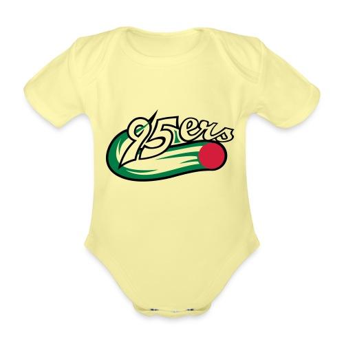 95ers logo neu - Baby Bio-Kurzarm-Body