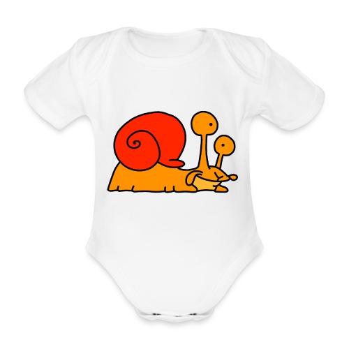 Schnecke Nr 97 von dodocomics - Baby Bio-Kurzarm-Body