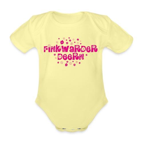 Finkwarder Deern blume - Baby Bio-Kurzarm-Body