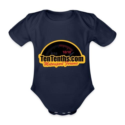 3Colour_Logo - Organic Short-sleeved Baby Bodysuit