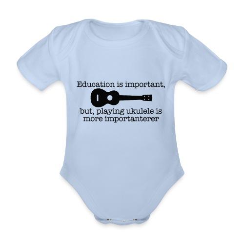 Important Ukulele - Organic Short-sleeved Baby Bodysuit