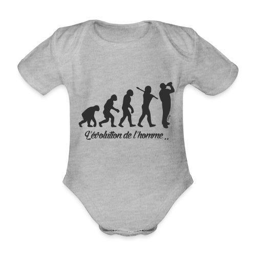 évolution homme (H) - Body Bébé bio manches courtes