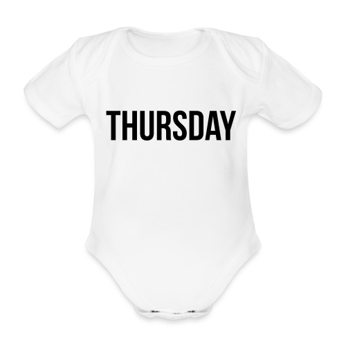 Thursday - Organic Short-sleeved Baby Bodysuit