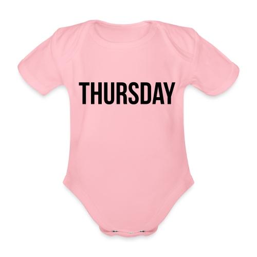 Thursday - Organic Short-sleeved Baby Bodysuit