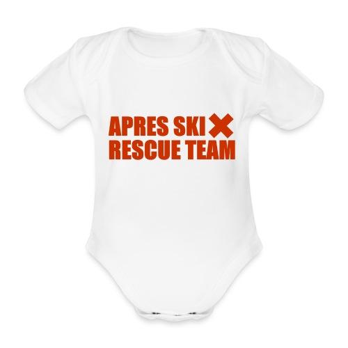 apres-ski rescue team - Organic Short-sleeved Baby Bodysuit