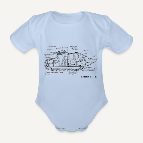 ft17 - Ekologiczne body niemowlęce z krótkim rękawem