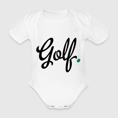 2541614 15454211 golf - Body ecologico per neonato a manica corta