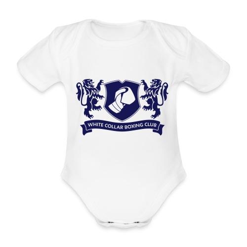 White Collar Boxing Hoodie Classic-Blue - Baby Bio-Kurzarm-Body