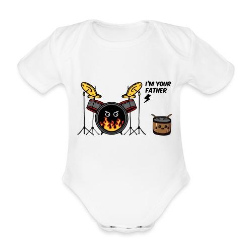 i'm your father drum - Body ecologico per neonato a manica corta