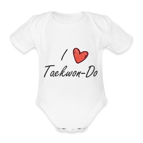 I love taekwondo letras negras - Body orgánico de maga corta para bebé
