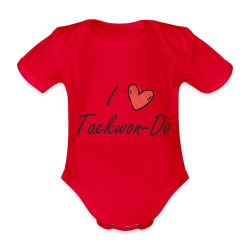 I love taekwondo letras negras - Body orgánico de manga corta para bebé