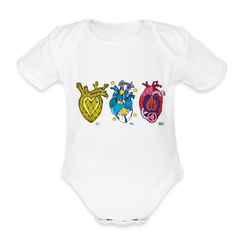 Corazones Prestados - Body orgánico de manga corta para bebé