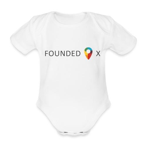 FoundedX logo png - Organic Short-sleeved Baby Bodysuit