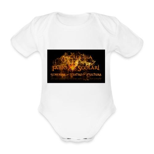 Accademia_Fabio_scolari_nero-png - Body ecologico per neonato a manica corta