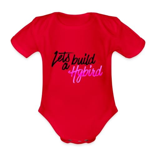 Lets Build A hybrid - Organic Short-sleeved Baby Bodysuit
