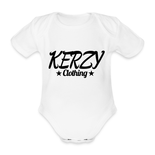 Official KerzyClothing T-Shirt Black Edition - Organic Short-sleeved Baby Bodysuit