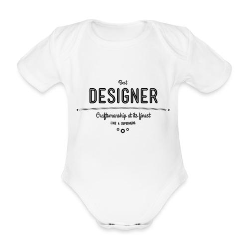 Bester Designer - Handwerkskunst vom Feinsten, wie - Baby Bio-Kurzarm-Body