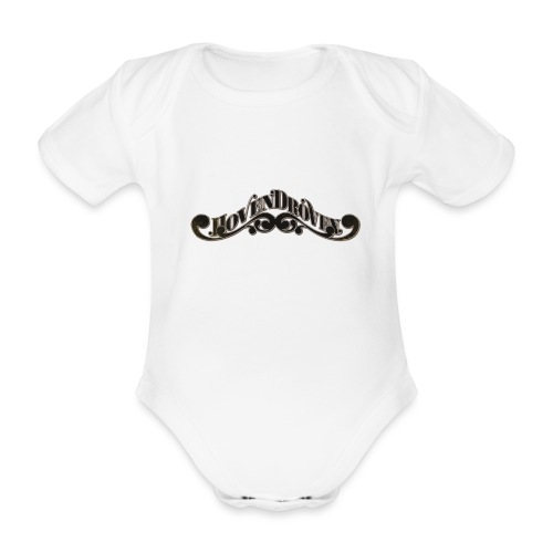HOVEN DROVEN - Logo - Organic Short-sleeved Baby Bodysuit