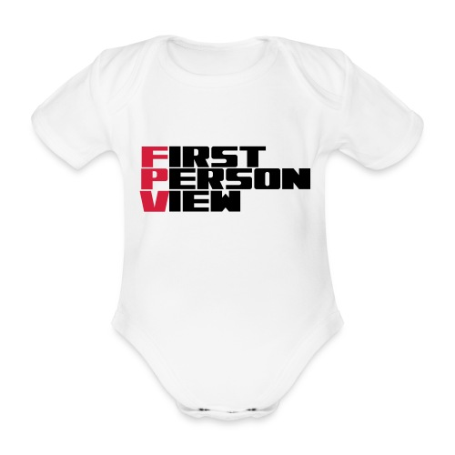 First Person View - Organic Short-sleeved Baby Bodysuit