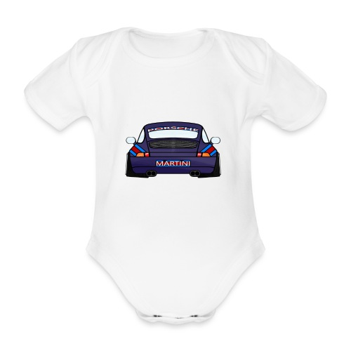 Magenta maritini Sports Car - Organic Short-sleeved Baby Bodysuit