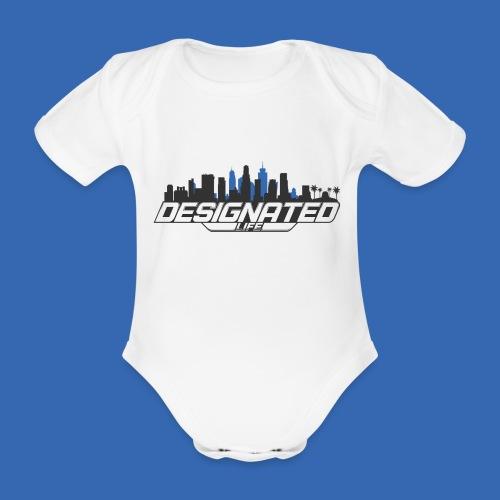 Designated Black - Baby Bio-Kurzarm-Body