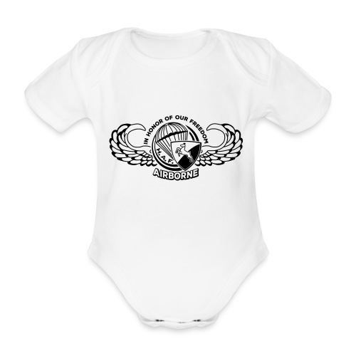 HAF tshirt back2015 - Organic Short-sleeved Baby Bodysuit