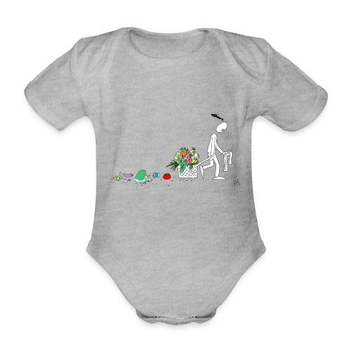 frukt og grønt handleveske - Økologisk kortermet baby-body