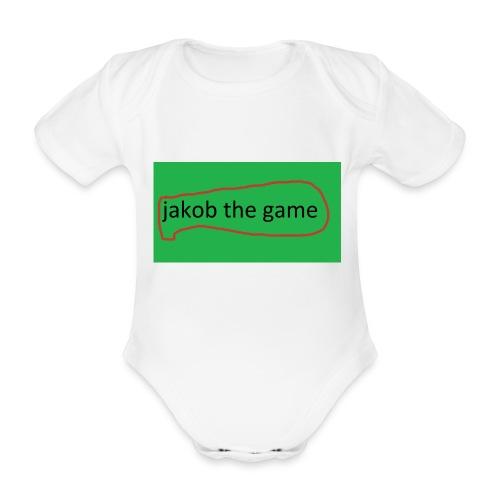 jakobthegame - Kortærmet babybody, økologisk bomuld