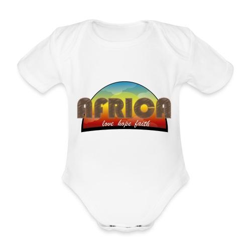 Africa_love_hope_and_faith - Body ecologico per neonato a manica corta