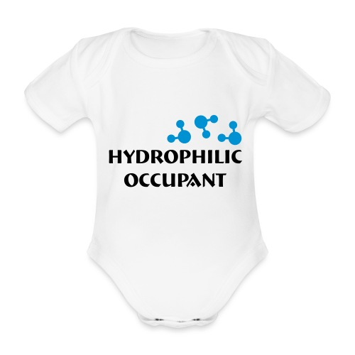 Hydrophilic Occupant (2 colour vector graphic) - Organic Short-sleeved Baby Bodysuit