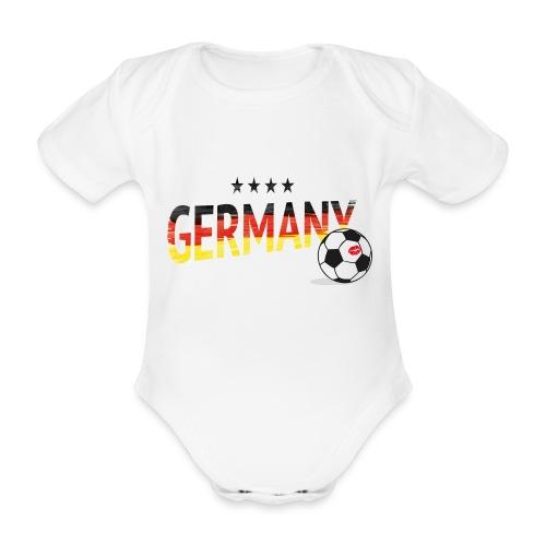 Fußball Weltmeister Fan Deutschland - Baby Bio-Kurzarm-Body
