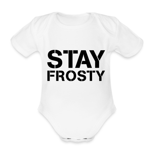 Stay Frosty - Organic Short-sleeved Baby Bodysuit