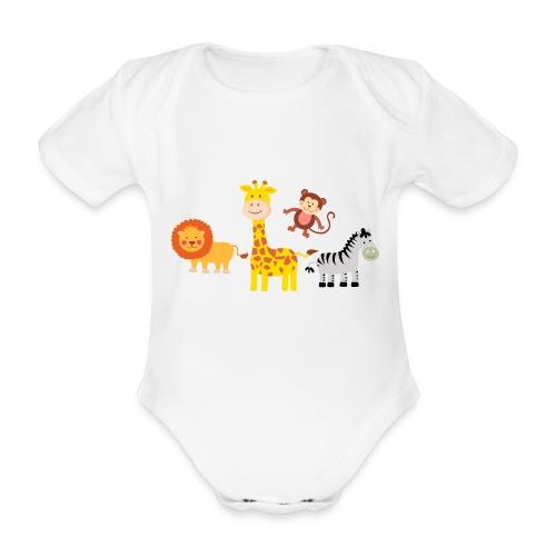 Safari - Djur - Ekologisk kortärmad babybody