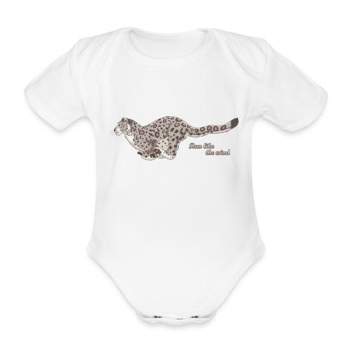 Snow Leopard: Run Like the Wind - Ekologiczne body niemowlęce z krótkim rękawem