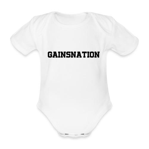 Kortärmad tröja Gainsnation - Ekologisk kortärmad babybody