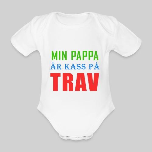 pappakasspatrav - Ekologisk kortärmad babybody