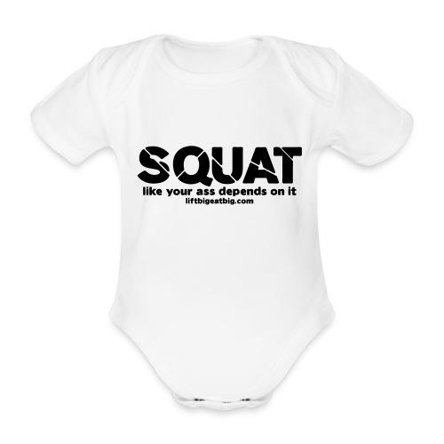 squat - Organic Short-sleeved Baby Bodysuit