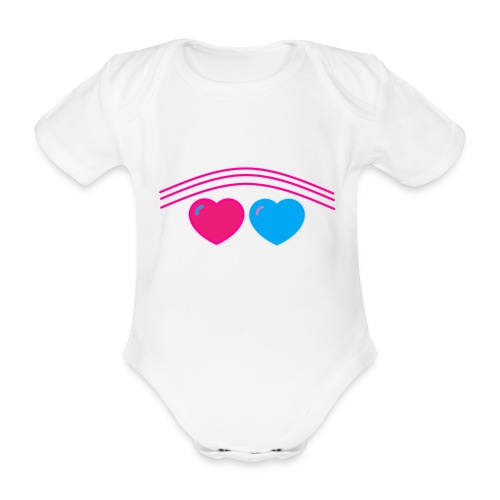 Das Design mit Herz - Baby Bio-Kurzarm-Body