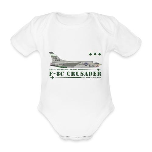 F-8C Crusader VMF-333 - Organic Short-sleeved Baby Bodysuit
