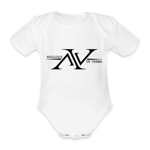 Nullius In Verba Logo - Organic Short-sleeved Baby Bodysuit