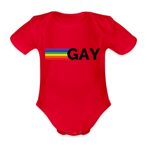 Gay | Regenbogen | LGBT - Baby Bio-Kurzarm-Body
