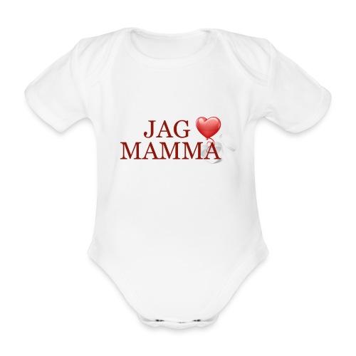 Jag älskar mamma - Ekologisk kortärmad babybody
