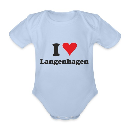 I Love Langenhagen - Baby Bio-Kurzarm-Body