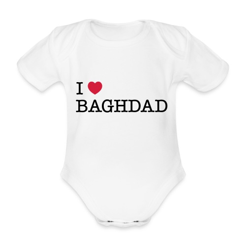 I LOVE BAGHDAD - Organic Short-sleeved Baby Bodysuit