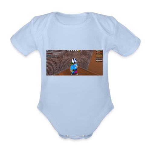 panda time - Organic Short-sleeved Baby Bodysuit